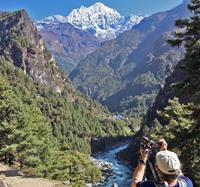 Picture perfect views while trekking mount everest