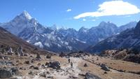 Descending from Everest Base Camp