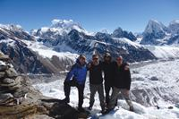 The people you meet on organised group tours, often provide turn into lasting friendships. Happy trekkers at Gokyo Ri, Nepal