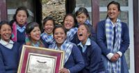 Opening of school in Nepal by Himalayan Trust UK