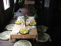 Traditional Burmese table setting experience at one of our traditional cooking classes.