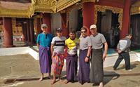 Guide Min Thiha with some of his travellers in Myanmar
