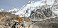 Everest Base Camp trek information by signboards, Nepal Himalaya
