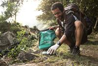 Helping tidy up walking trails in Nepal through the 10 Pieces litter collection initiative.
