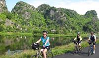 Cycle in Halong Bay on Land in Ninh Binh, Vietnam