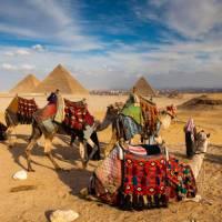 Pyramids of Giza near Cairo | Richard I'Anson