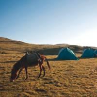 Our campsite on trek in Ethiopia's Simien Mountains   Aran Price