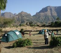 Camping in the highlands of Ethiopia -  Photo: Janet Oldham