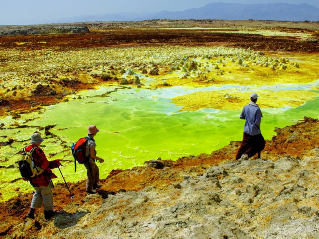 The unfiltered volcanic landscape of Dallol in the Danakil desert |  <i>Tanguy de Saint-Cyr</i>