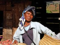 Local Malagasy woman selling her farmed goods -  Photo: Ian Williams