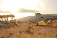 Camp set up on Kilimanjaro |  <i>Charles Duncombe</i>