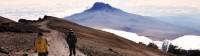 Trekkers descending Mount Kilimanjaro |  <i>Peter Brooke</i>