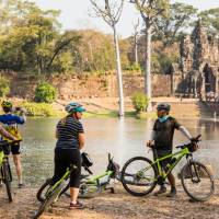 Cycling is a great way to take in even more of the ruins of Angkor Wat   Lachlan Gardiner