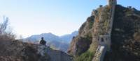 Local farmer sitting on the Great Wall | Ayla Rowe