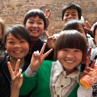 Local kids in Western China |  <i>Peter Walton</i>