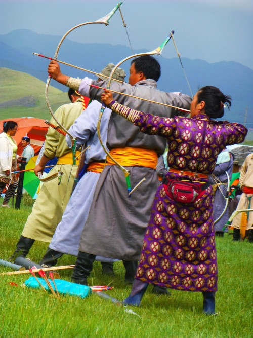 Archers at Naadam Festival, Mongolia&#160;-&#160;<i>Photo:&#160;Caroline Mongrain</i>