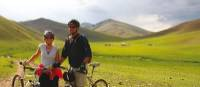 Stunning scenery and riding conditions on the bike trip in Mongolia