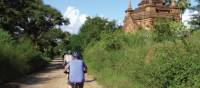Cycling around the ancient temples in Bagan, Myanmar | Caroline Mongrain