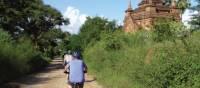 Cycling around the ancient temples in Bagan, Myanmar | Caroline Mongrain