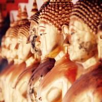 Buddha statues at the Royal Palace, Bangkok