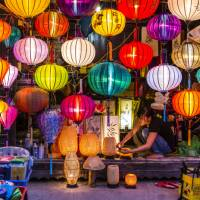 Coloured lanterns in the streets of Vietnam   Richard I'Anson