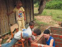 Building the village schoolhouse on a Vietnam community project |  <i>Richard Cunningham</i>