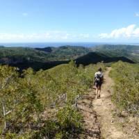 Walking along a ridgeline on the Kanak Village Hike