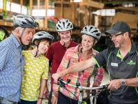 Bike fitting at the Trail Journeys Depot |  <i>Lachlan Gardiner</i>