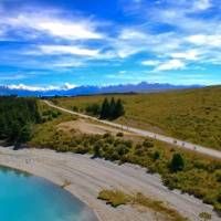 Enjoy spectacular views of Lake Pukaki & the Southern Alps on the Alps 2 Ocean Cycle Trail | Dan Thour