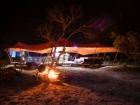 The Larapinta campsites offer stylish and comfortable facilities in an outback wilderness |  <i>Caroline Crick</i>