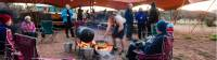 The guides still use traditional outback cooking over the open fire in the Larapinta Campsites |  <i>Caroline Crick</i>