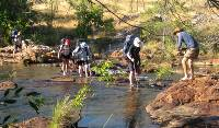 River crossing at Crystal Falls camp on the Jatbula Trail |  <i>Emma Pierce</i>