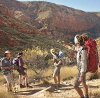 Enjoying the scenery on the Larapinta trail, Northern Territory -  Photo: Paddy Pallin