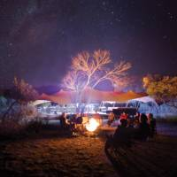Around the campfire at Charlie's Camp on the Larapinta Trail   Graham Michael Freeman