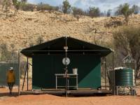 The Larapinta Camps offer composting toilets and outback showers designed for hygeine with minimal impact on the desert environment |  <i>Brett Boardman</i>
