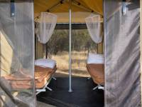 Enjoy staying in our spacious sleeping tents at our semi-permanent campsites |  <i>Shaana McNaught</i>
