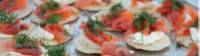 Smoked salmon canapes on Larapinta in Comfort trips. |  <i>Ayla Rowe</i>