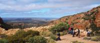 Stopping for a scenic break with views over central Australia | Latonia Crockett