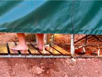 The Larapinta Campsites offer outback shower facilities |  <i>Sue Badyari</i>