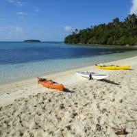 Kayaks waiting on the sand | Sherry Wooton