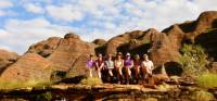 A happy group posing in front of the Bungle Bungles |  <i>Holly Van De Beek</i>