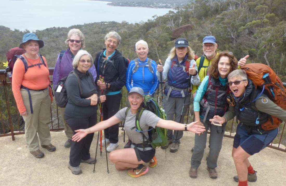 Plenty of laughs and smiles guiding a group in Tasmania's east coast