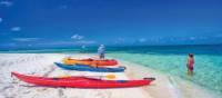 Preparing to Kayak in the crystal clear waters of Belize