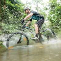 Action shot as we cycle Costa Rica wilderness | Mark Watson