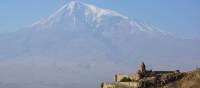 Khor Virap Monastery in Armenia looking across to Mt Ararat