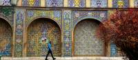 Beautiful tile work in the streets of Tehran | Sue Badyari