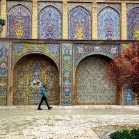 Beautiful tile work in the streets of Tehran | Sue Badyari