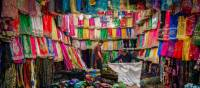 Colourful array of fabrics in Vakil Bazaar | Richard I'Anson