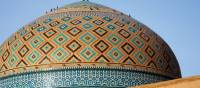 Beautiful tile work at Jameh Mosque of Yazd | Sue Badyari