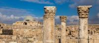 Pillars & ruins of the domed audience hall at the Citadel, Amman | Richard I'Anson